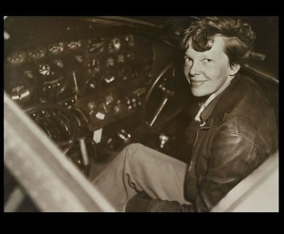 1937 Amelia Earhart PHOTO Flight Gear Electra Cockpit Airplane