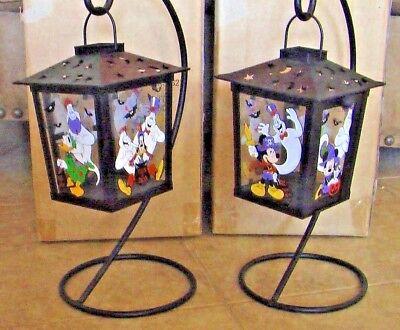 Disney Halloween Lanterns: Set of 2 Indoor/Outdoor Metal Full Color Images