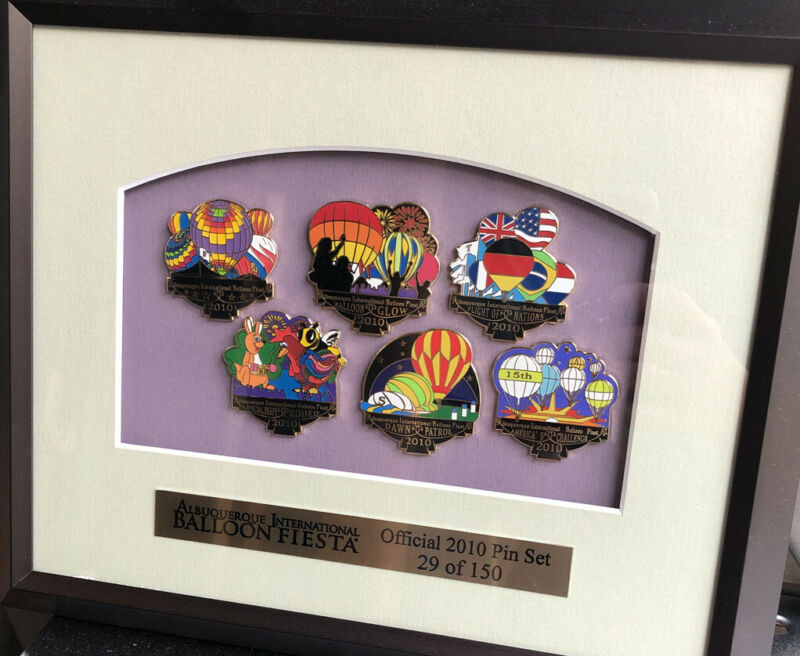 Albuquerque International Balloon Fiesta Official 2010 Pin Set 29 Of 150