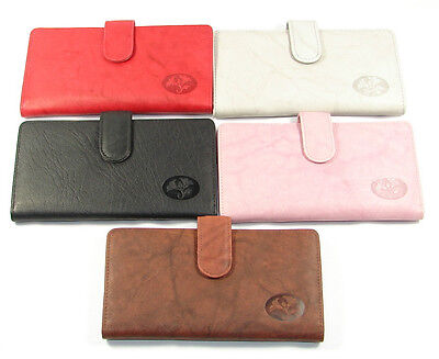 Buxton Leather Checkbook Cover Keeper Credit Card Slots Wallet Heirress