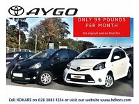 2014 Toyota Aygo MODE AC VVT-I. £99 per month - no deposit/no final payment