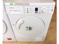 BOSCH White Exxel 7KG Sensor CONDENSER DRYER + 3 Month Guarantee + FREE LOCAL DELIVERY