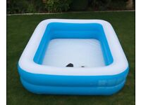"""""""Bestway"""" rarely used inflatable paddling pool vgc, and bellows foot pump."""
