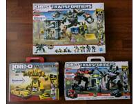 Three large Kre-o Transformers kits (100% Lego compatible)