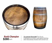 Danish Oil-Treated Rustic Champion Wine Barrel. FREE DELIVERY! West Perth Perth City Preview