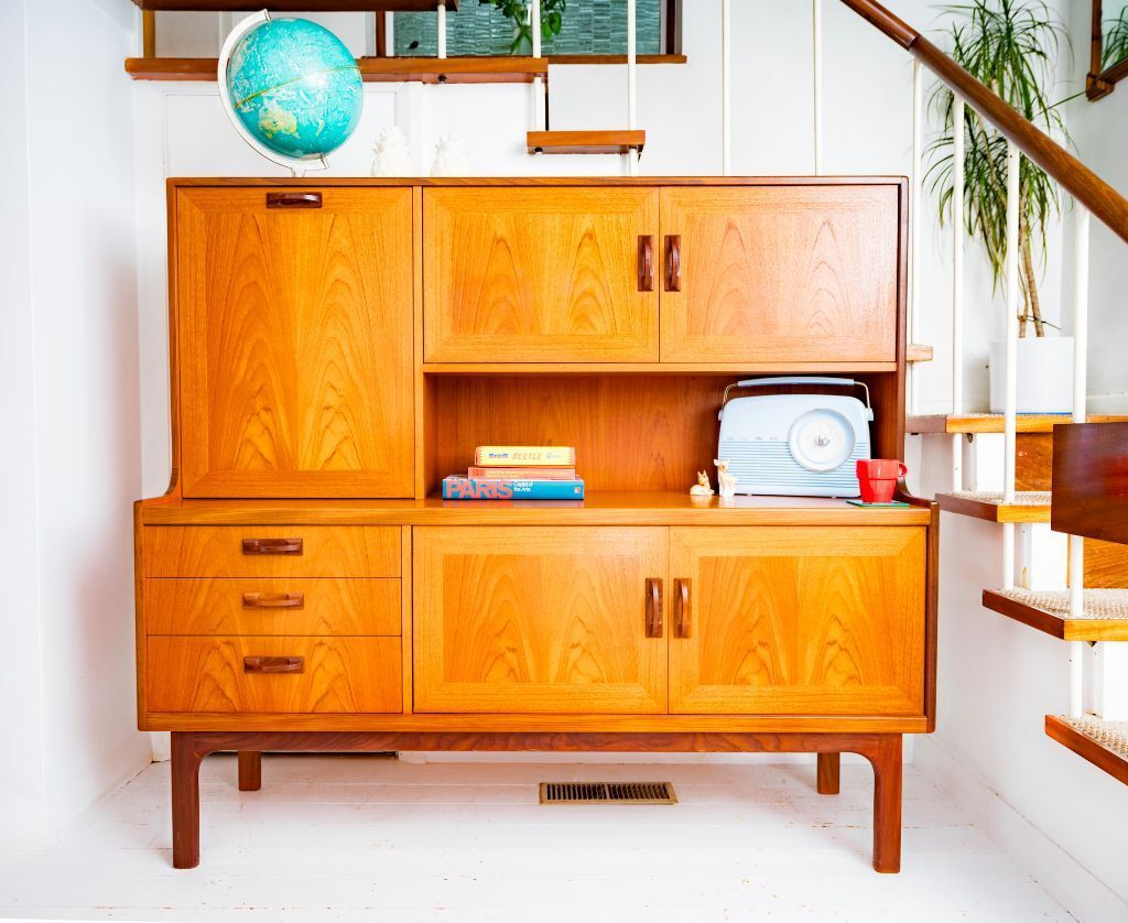 stunning retro teak mid century g plan fresco sideboard. Black Bedroom Furniture Sets. Home Design Ideas