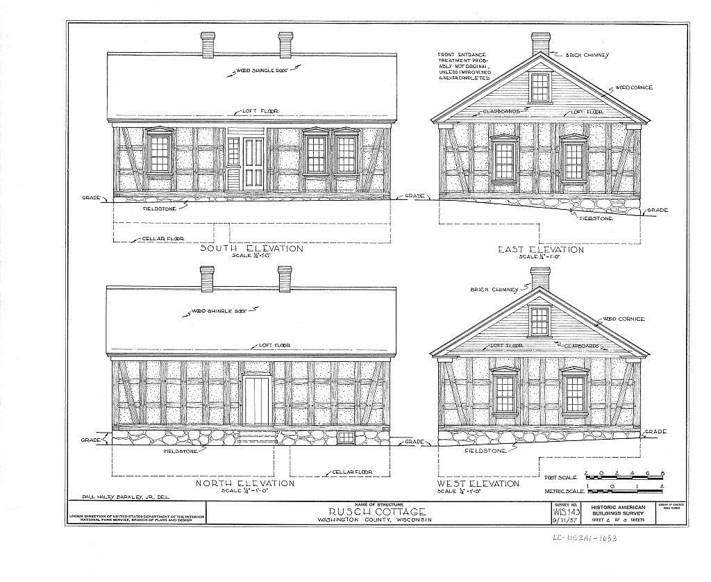 Timber frame cottage architectural drawings single story for Single story timber frame homes