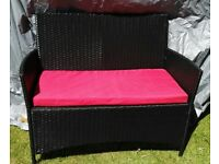 Rattan Garden Seat with Cushion VGC