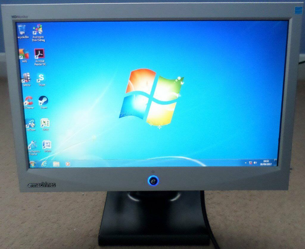 "Emachines 17"" Widescreen LCD / LED Flatscreen Monitor E17T4W"