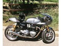 Triumph Thruxton R 1200 Track Racer 2016, Immaculate, many extras, balance of warranty