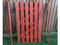 Heavy duty wooden gate