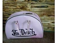 Von Dutch bowling bag pink travel suitcase carry