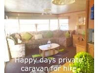 Caravan for hire Towyn North Wales