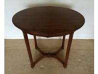 Antique oval art deco table