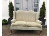 Urgent must go today - vintage wingback 2 seater sofa ( could be Parker knoll but not sure)