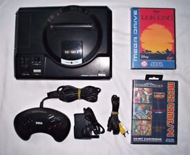 sega mega drive 1 with leads, controller and games!!!