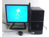 Dell V220 + 6 Games (Gaming PC, Monitor, K/M) 4GB Ram + 1GB Nvidia GT220, Core E8400, i5, Desktop PC