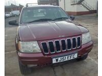 4×4 JEEP GRAND CHEROKEE 3.1 DIESEL WITH SRVICE HISTORY AND 12 MONTHS MOT