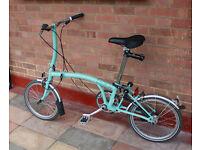 Brompton bicycle folding