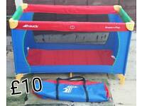 Hauck travel cot. In excellent clean condition