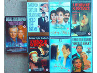 7 x BARBARA TAYLOR-BRADFORD genuine original VHS video tapes, one careful owner, excellent condition