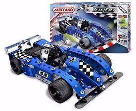 Meccano Turbo Evolution Blue Racing Car 6353: Brand New