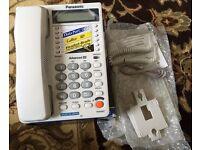 Bargain Panasonic Caller ID KX-T2375JXW Corded Phone – White- NEW IN BOX