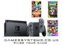 Brand New Switch Console with 1-2 Switch Crash Bandicoot & Mario Kart 8 for just £329.99!