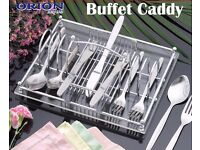 Job lot Sale 480 New Orion Buffet Caddy Chrome Plated Acrylic Board Display Protect Store Tableware