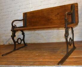 Geo Hammer school antique bench wooden desk kitchen metal vintage retro chair seating industrial