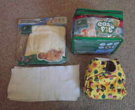 Totsbots EasyFit Re-usable Nappies x 4