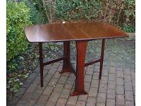 Legate Mid Century Teak Gate Leg - Drop Leaf - Dining Table - Seats 4-6