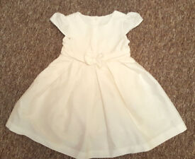 Mothercare white dress 12-18 months