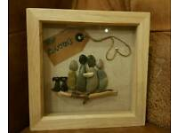 Personalised pebble pictures handmade - last minute Christmas gift and present ideas!