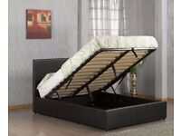 CRAZY PRICE // DOUBLE OTTOMAN STORAGE BED + 10 INCH THICK ORTHOPEDIC MATTRESS & FREE DELIVERY