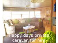 Private caravan hire towyn
