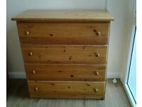 PINE CHEST OF DRAWERS 4 LARGE DRAWERS