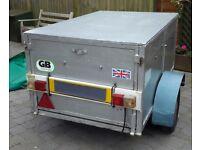 Strong Box Trailer for car, lockable secure top, metal tailgate,original mini wheels