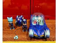 PJ masks catboy, catmobile & hero boost vehicle
