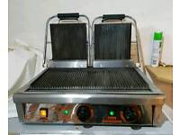 Commercial panini double grill