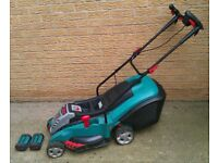 Bosch Rotak Rechargeable Battery Mower with 2 Batteries