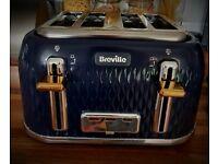 Tefal Curve 4 slot toaster - 6 months old - £15