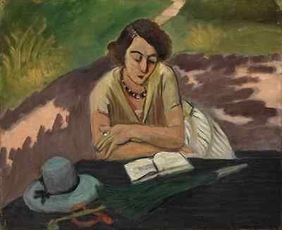 Henri Matisse Reading Woman With Parasol A3 Photo Print Henri Matisse Woman Reading