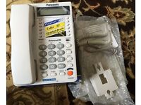 Bargain Panasonic Caller ID KX-T2375JXW Corded Phone – White-NEW IN BOX