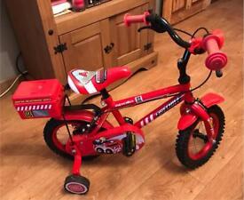 Fireman rescue kids bike
