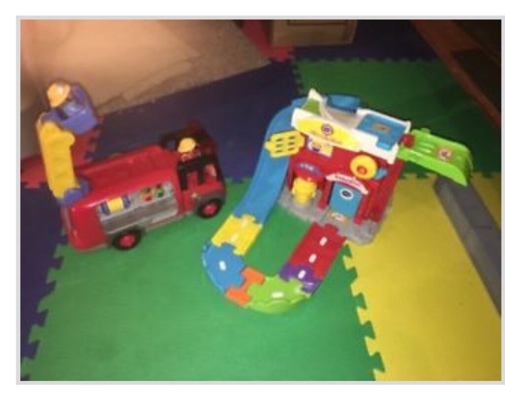 Vtech toot toot fire engine driver set and ELC fire engine