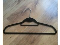 316 clothes hangers in 7 different varieties. Excellent condition, ex-shop