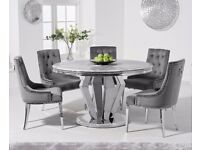 130cm Round Marble Dining Table