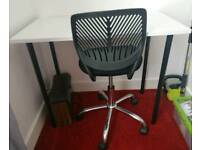 Desk and chair - virtually unused