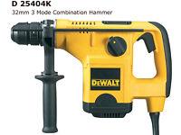 dewalt d25404k sds + hammer drill 240v